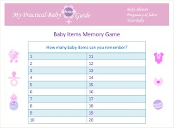 Free Baby Shower Items Memory