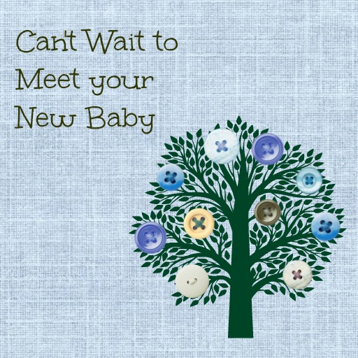 Baby Shower Message Greeting Card - Can't Wait to Meet your New Baby