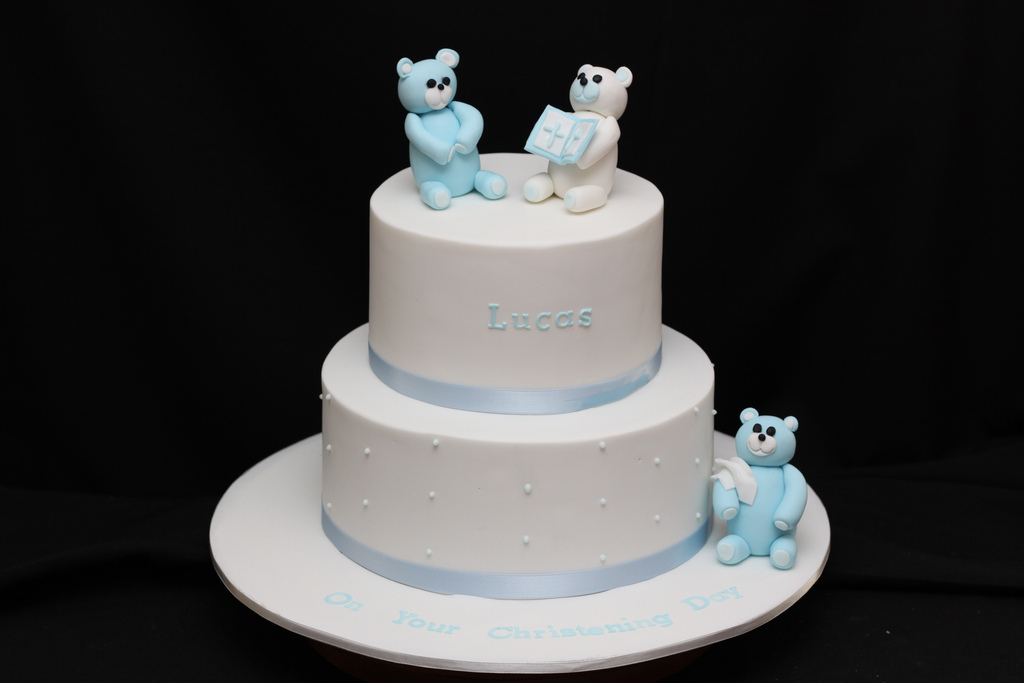 Bear Baby Shower Cake