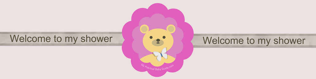 Free Printable Bear Girl Baby Shower Custom Bottle Label