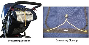 Jogging Strollers drawstring location Recall