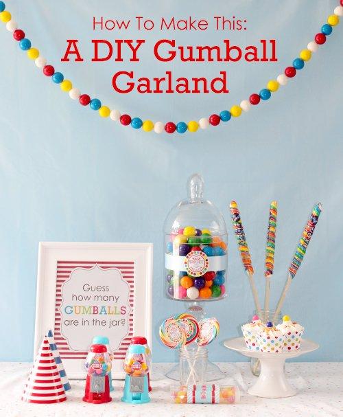 DIY Gumball Garland