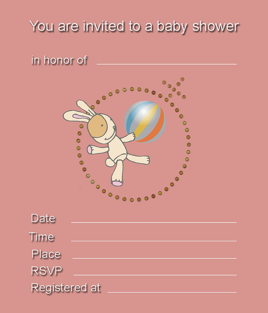 Free Printable Baby Girl Sport Baby Shower Theme Invitations