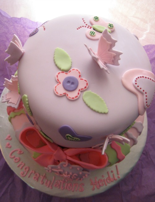Baby Shower Cake inspired by Butterfly Invitation