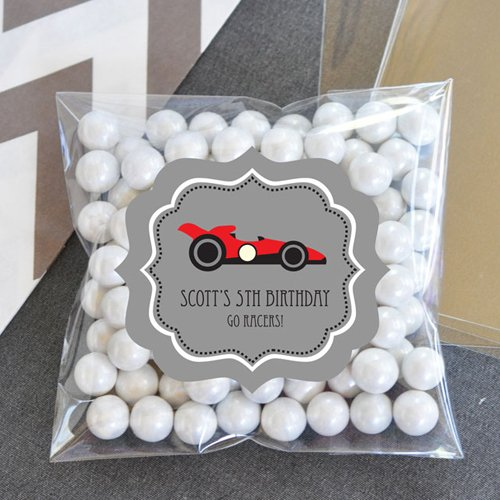 Personalized  Car Clear Birthday Candy Bags