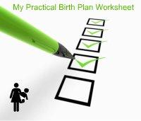 My Practical Birth Plan Worksheet