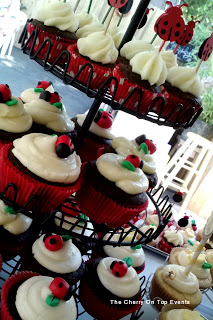 baby shower desert ideas lady bug cupcakes
