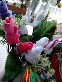 Sock Rose Baby Shower Bouquet