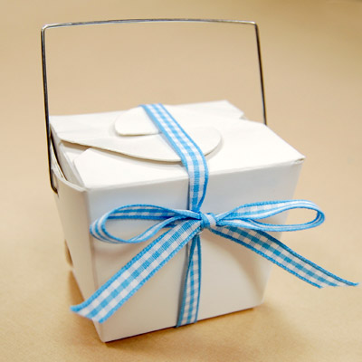 Chinese Baby Shower Takeout Box Favor