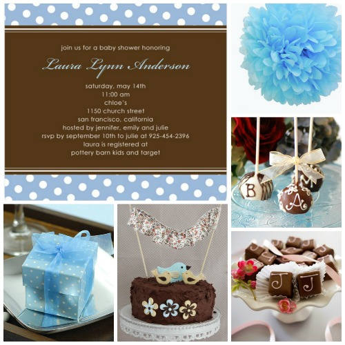 Chocolate Baby Shower Inspiration Board Ideas
