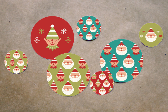 Christmas Baby Shower Table Confetti