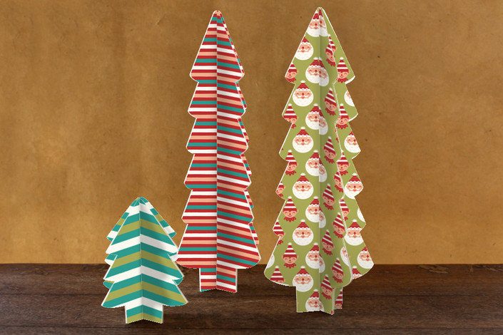 Three Dimensional Holiday Tree Centerpieces