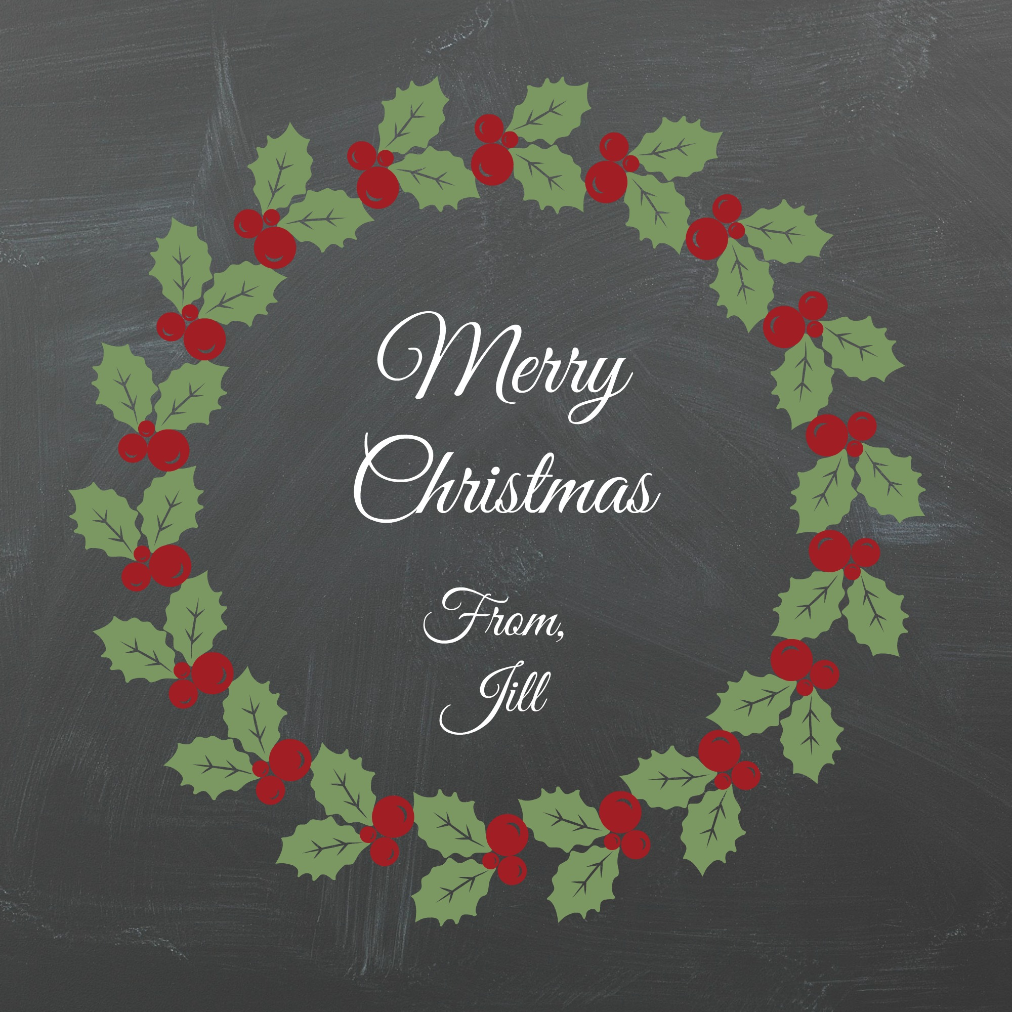 Printable Chalkboard Christmas Gift Tags
