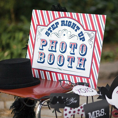 Circus Birthday Photo Booth Sign