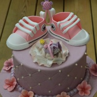 Converse Shoes Girl Baby Shower Cake