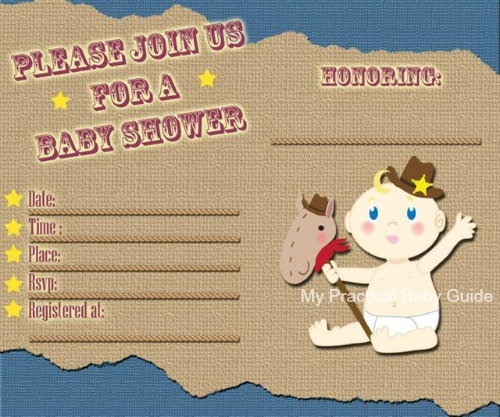 Free Cowboy Baby Shower Invitation