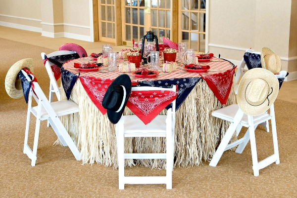 Cowboy Baby Shower Table setting