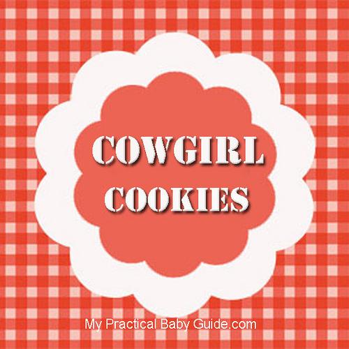 Free Printable Cowgirl Cookies Label