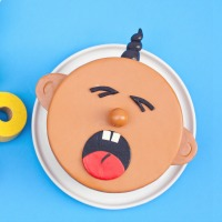 Crying Baby Shower Cake