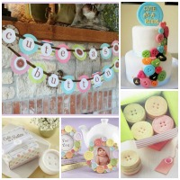 Cute as a Button Baby Shower Inspiration Board Ideas
