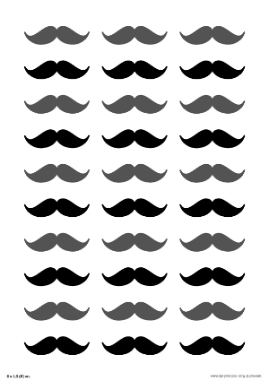 Free Printable Mustaches Dad's Baby Shower