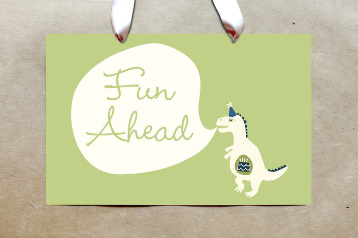 Dinosaur Baby Shower Theme Welcome Sign