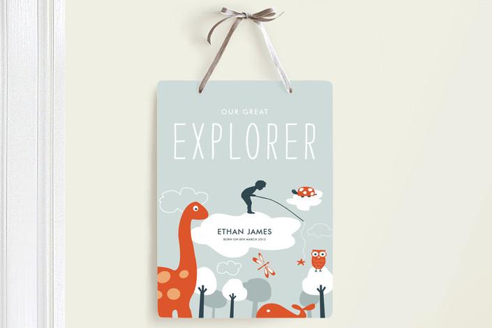 Dinosaur Room Door Sign - Baby Shower Gift