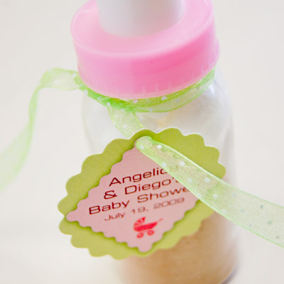 DIY Baby Shower Bottle Favor