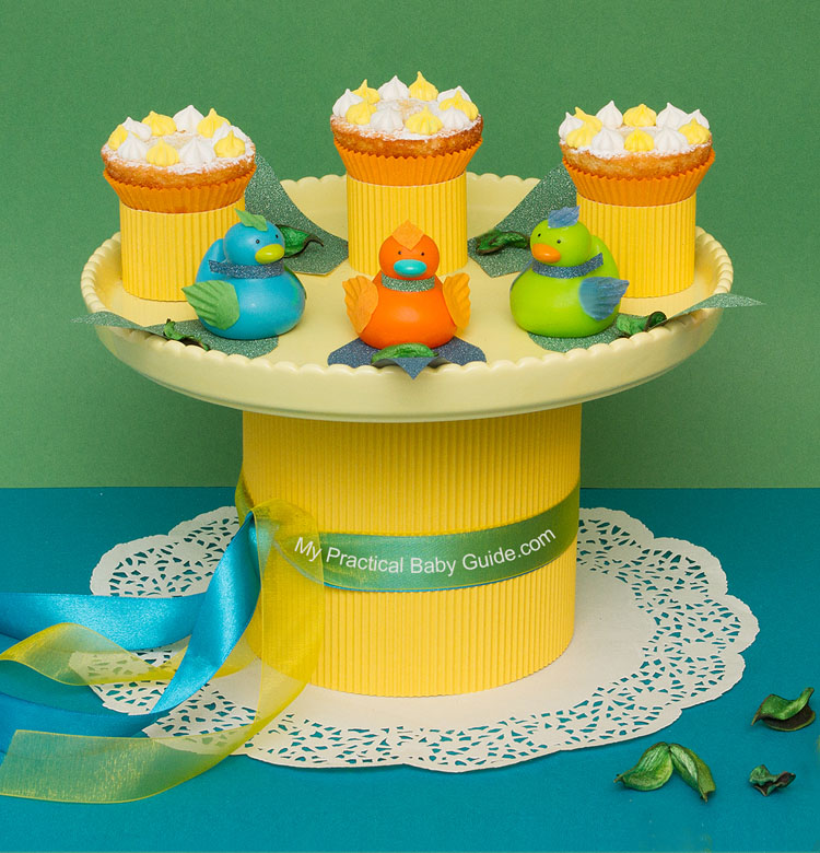 DIY Duck Baby Shower Centerpiece