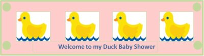 duck baby shower custom bottle label
