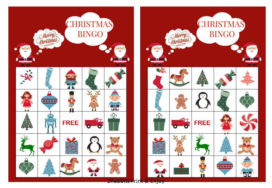 Printable Christmas Bingo Cards for Kids