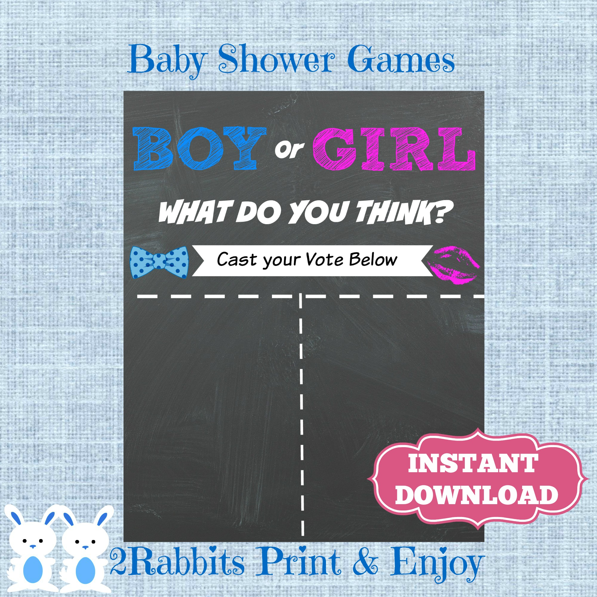Boy or Girl Chalkboard Poster