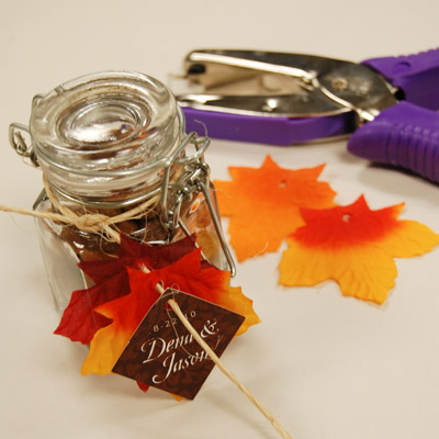 fall baby shower favor jar my practical baby shower guide