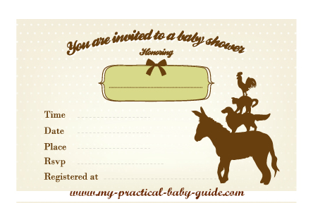 Free Printable Farm Baby Shower Invitation