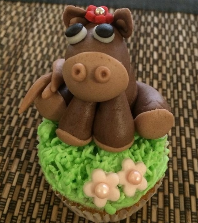 A Pony - Farm Themed Cupcake