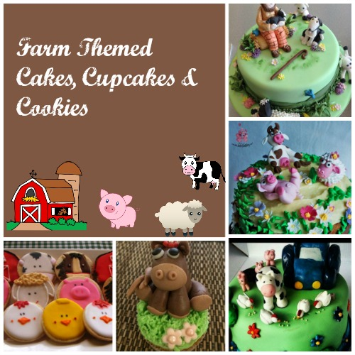 Farm Themed Party Cakes Cupcakes and Cookies