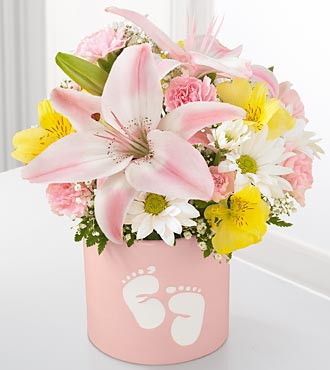 Flowers for the new baby girl
