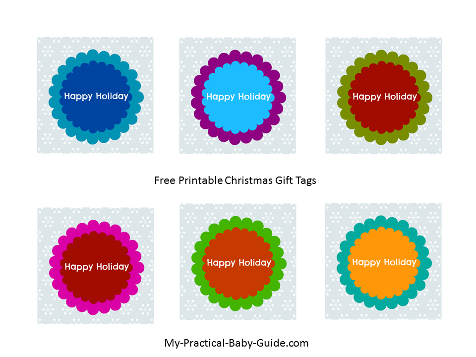 Free Printable Christmas Gift Tags - My Practical Baby Shower Guide