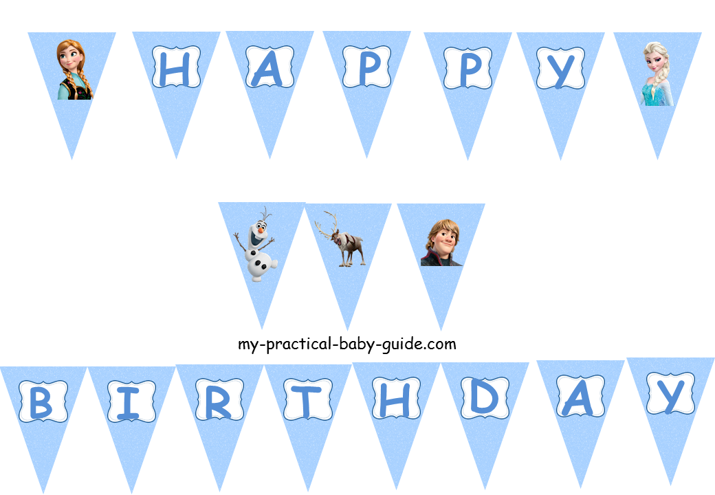 Frozen Birthday Flag Banner