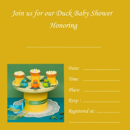 Free Duck Baby Shower Invitation