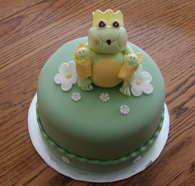 Frog Baby Shower Cake