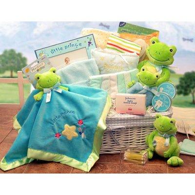 Frog Baby Shower Gift Basket
