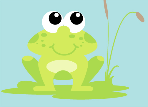 Frog Mural Character