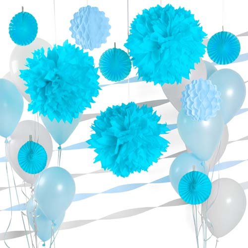 Light Blue Colored Decor Party Kit