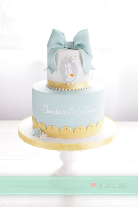 Neutral Baby Shower Cake