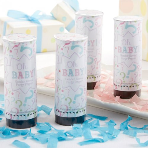 Gender Reveal Baby Shower Party Poppers
