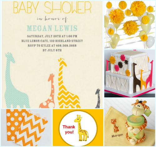 Giraffe Baby Shower Inspiration Board My Practical Baby Shower Guide