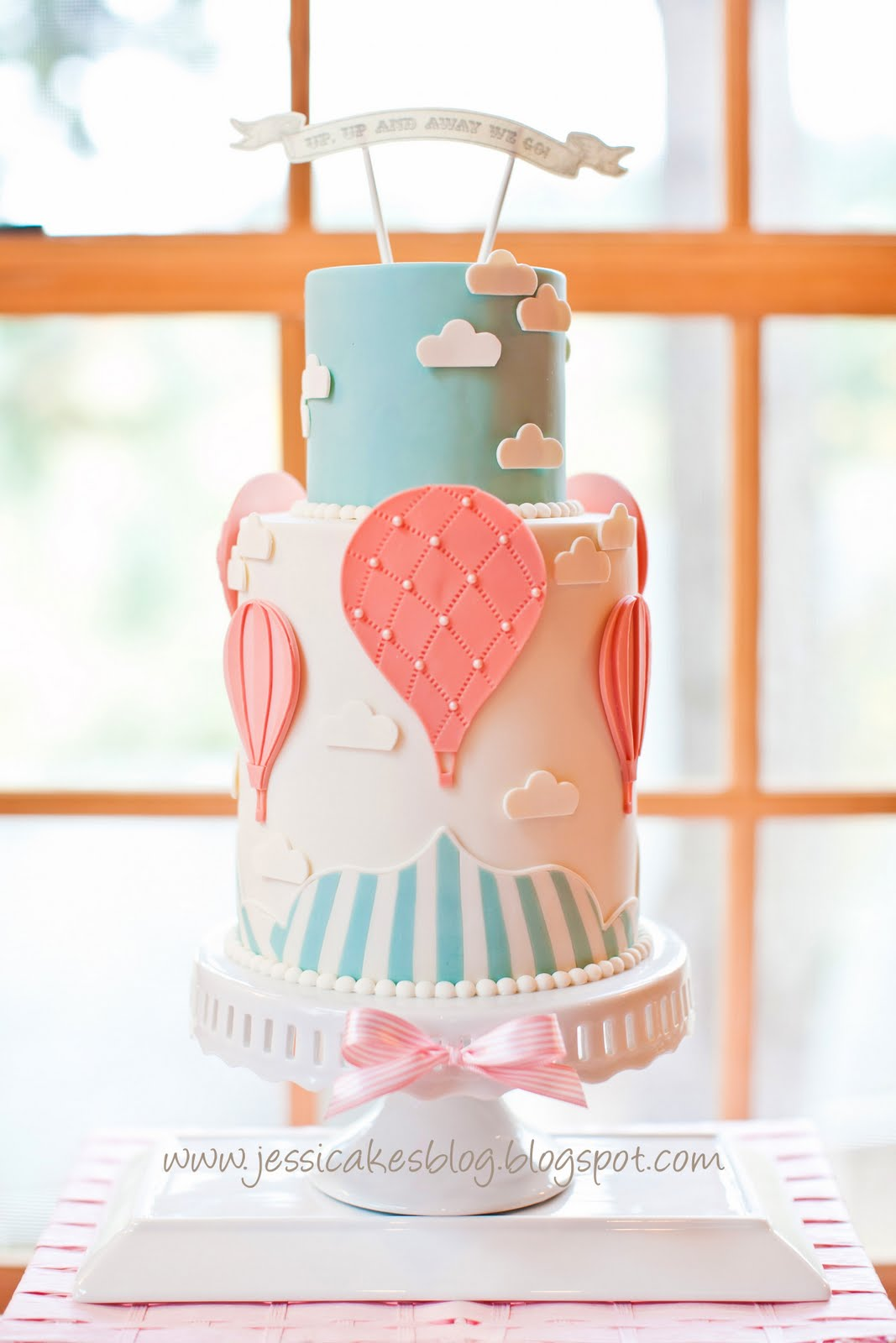 Cake Decorating Hot Air Balloon : Hot Air Balloon Girl Baby Shower Cake - My Practical Baby ...
