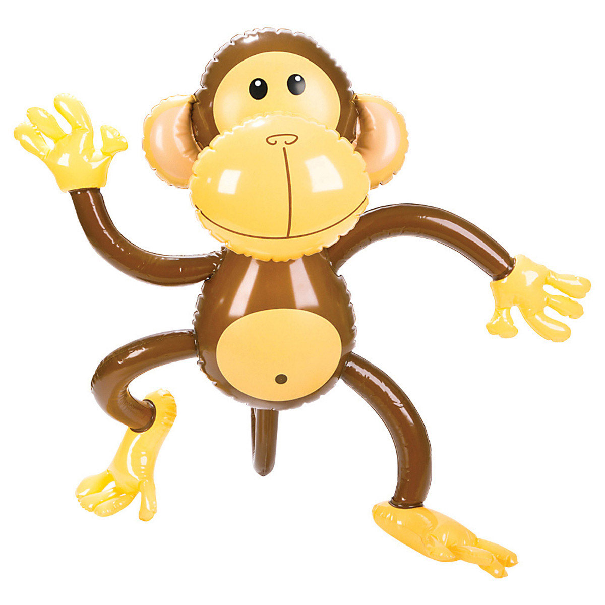 Inflatable Monkey as a decoration at a monkey baby shower