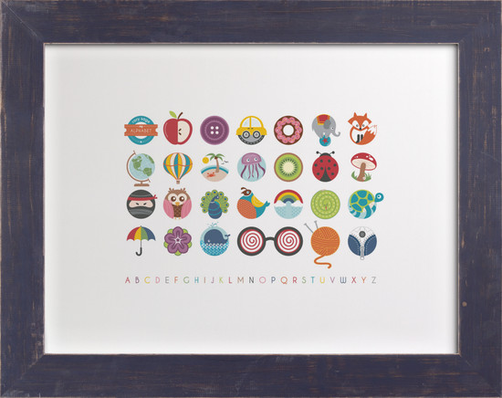 Nursery Wall Art Alphabet in the Round